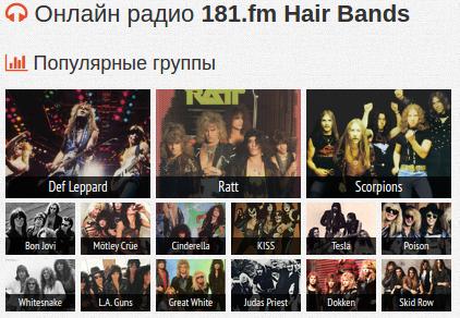 Чарты групп радиостанции