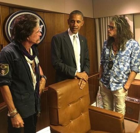 Участники Aerosmith встретились с президентом США