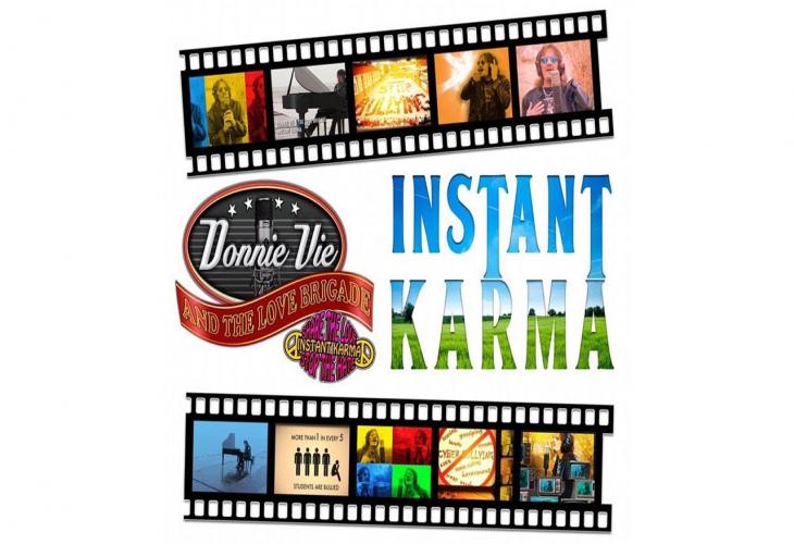 Donnie Vie и The Love Brigade выпустили видео для «Instant Karma» + новый сольный альбом 7 июня